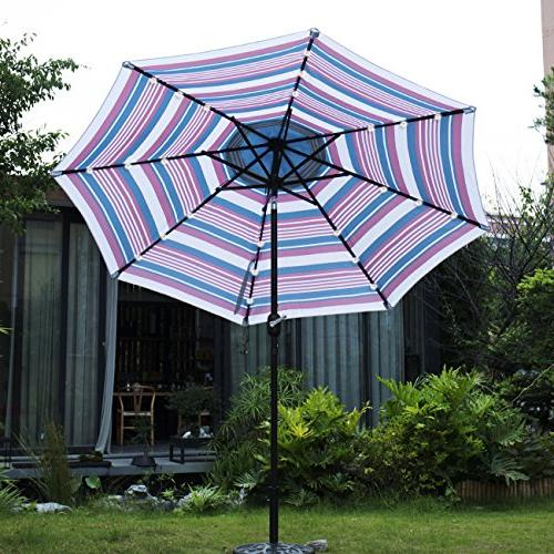 Sunnyglade Solar 24 LED Lighted Umbrella and Crank