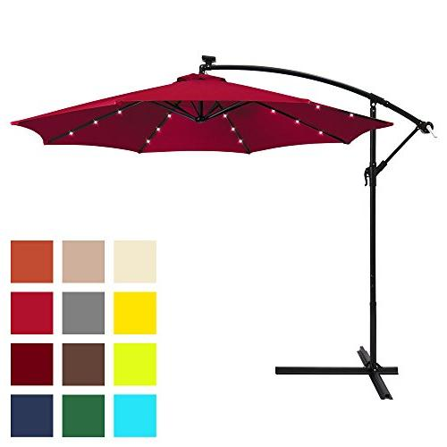solar patio offset umbrella w