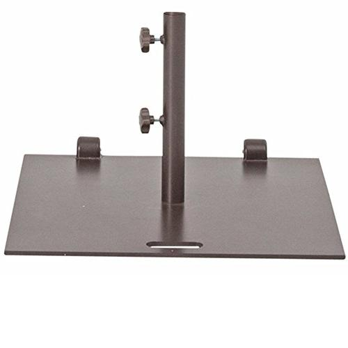 square steel market umbrella base