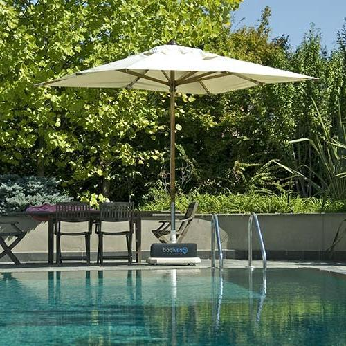 Gravipod Base to 110#. Safety Patio, Offset and Umbrellas. Heavy Duty Polyester, opening, and UV