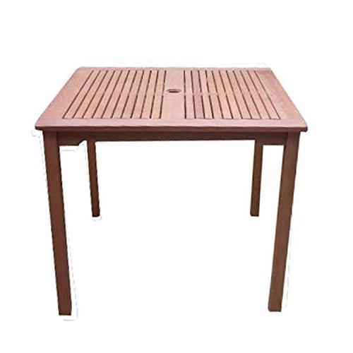 square wooden patio dining table