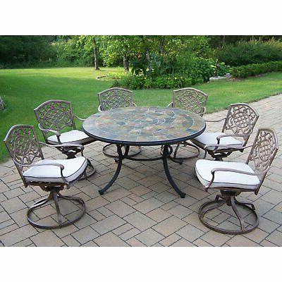 Oakland Living Deluxe Patio Dining Set - Seats