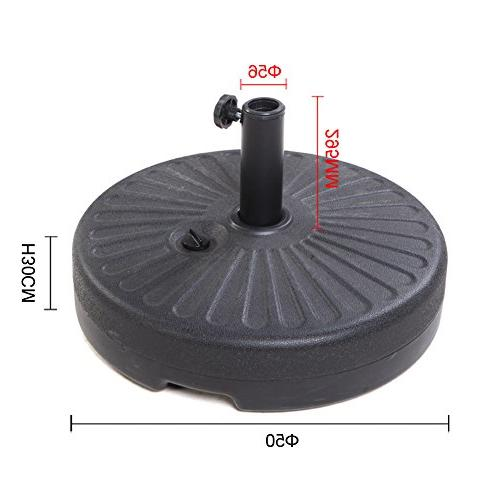 Grand patio HDPE Fill with Water 50lbs Umbrella Stand Pole Holder for Lawn 20