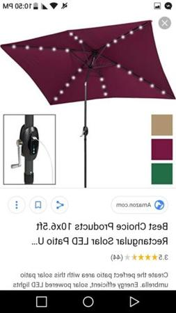 Large Patio Umbrella Outdoor Folding Sunbrella 10ft Deluxe S