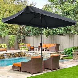 Metal Patio Umbrella 6 Ribs Sun Shade Market Table Umbrella