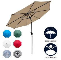 NEW Sunnyglade 9' Patio Umbrella Outdoor Table Umbrella with