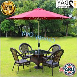 NEW 9FT Patio Umbrella Canopy Top Cover Replacement 8 Ribs M