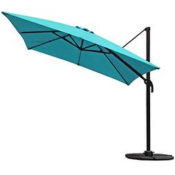 COBANA Offset Rectangular Cantilever Aluminum Patio Umbrella