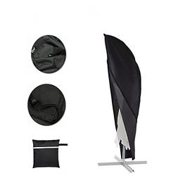 Parasol Cover, Patio Offset Umbrella Cover with Zipper Water