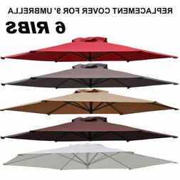 Outdoor 9ft Patio Umbrella Cover Canopy 6 Ribs Replacement P
