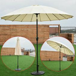 Outdoor 9ft Patio Umbrella Sunshade Cover Market Garden Cafe