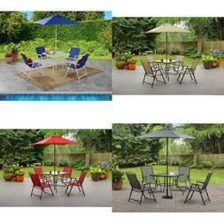 Outdoor Folding Dining Set Patio Umbrella Chair Table Patio