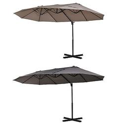 Outsunny Outdoor Offset Patio Cantilever Umbrella w/ Double
