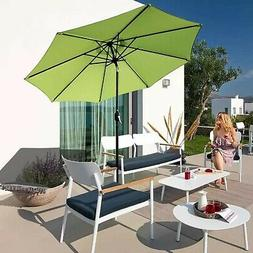 ABBLE Outdoor Patio Umbrella 9 Ft with Tilt and Crank, Weath