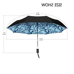 Aideess Outer Black Umbrella Blue Sea Octopus Anima UV Anti