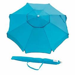 Abba Patio 7 Foot Beach Umbrella with Sand Anchor, Turquoise