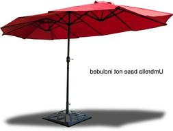 patio double umbrella 15 feet large red