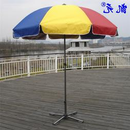 Patio Market Outdoor Umbrellas 9FT Multi-Color Rainbow
