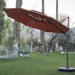 Patio Offset Umbrellas Clearance Outdoor 11ft With Solar Lig