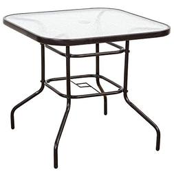 FurniTure Outdoor Patio Table Patio Tempered Glass Table 32""
