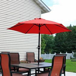 Sunnydaze 7.5 Foot Outdoor Patio Umbrella with Tilt & Crank,