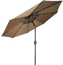 Patio Umbrella With Solar Lights 9-feet Clearance Southern L
