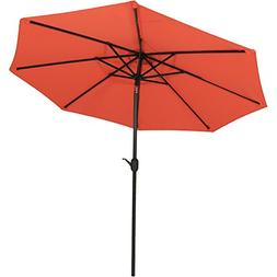 Sunnydaze 9-Foot Outdoor Patio Umbrella with Fade Resistant