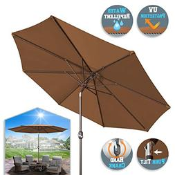 BenefitUSA 10' Patio Umbrella Garden Parasol Market Sunshade