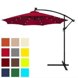 KING DO WAY Patio Umbrella Offset 10' Hanging Umbrella Outdo