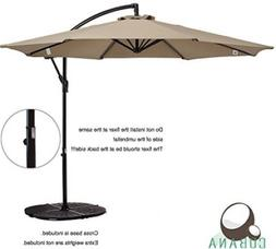 COBANA 10 Ft Patio Umbrella Offset Hanging Umbrella Outdoor