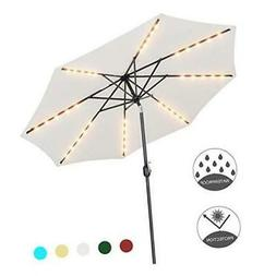 Patio Watcher 9 Feet Solar Umbrella 40 LED Lighted Patio Umb