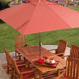 StarSun Depot 8 x 11-Ft Rectangle Patio Umbrella with Red Or