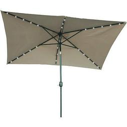 10' x 6.5' Rectangular Market Umbrella, Tan