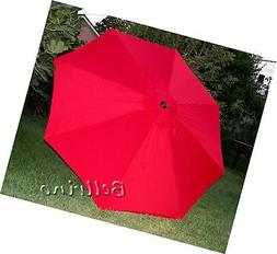 BELLRINO DECOR Replacement RED Strong & Thick Umbrella Canop