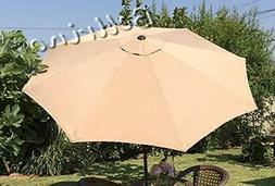 BELLRINO DECOR Replacement Taupe Strong and Thick Umbrella