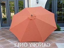 Replacement Umbrella Canopy for 9ft 8 Ribs Terra Cotta