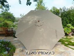 Replacement umbrella canopy for 11ft 8 ribs in Taupe