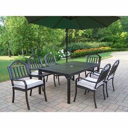 Oakland Living Rochester 67 x 40 in. Patio Dining Set with C
