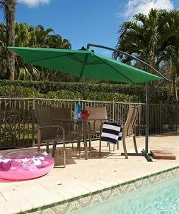 Round Umbrella Offset Cantilever Vented Patio Deck Yard Lawn