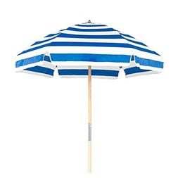 6.5' Shade Star Beach Umbrella Color: Pacific Blue / White S