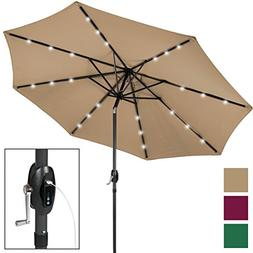Best Choice Products 10ft Solar LED Patio Umbrella w/USB Cha