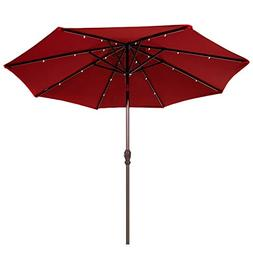 Abba Patio 9-Feet Solar Powered 24 LED Light Patio Umbrella