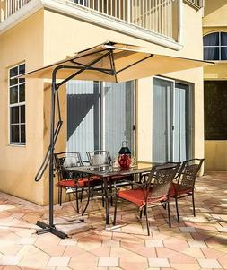 Square Umbrella Offset Cantilever Vented Patio Deck Yard Law