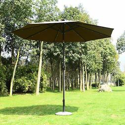 Summer Clearance 9' Solar LED Patio Umbrella Garden Market B