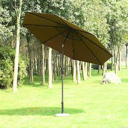 Summer Clearance 9ft Solar LED Patio Umbrella Market Beach S