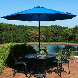 Sunnydaze Sunbrella Patio Umbrella with Auto Tilt and Crank,
