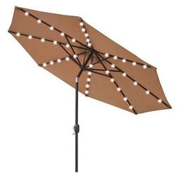 Sunrise 9 ft. Aluminum Patio Umbrella with Solar LED Lights