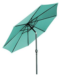 Trademark Innovations Tilt Crank Patio Umbrella, Teal, 10'