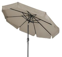 8' Tilt Crank Patio Umbrella with Scalloped Edge by Trademar