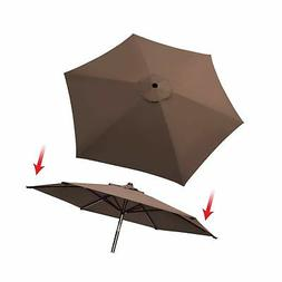 Umbrella Cover Canopy 8.2ft 6 Rib Patio Replacement Top Outd